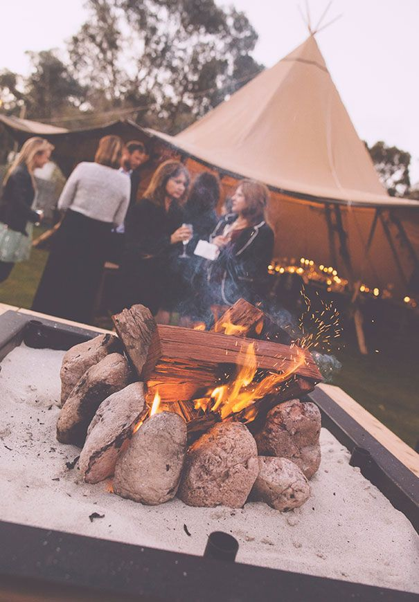 We have a fire like this in our tepee, but it will be inside our 3rd tent with a 'chill out' area for after dinner scotch drinking.