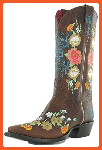 Macie Bean Western Boots Womens Floral Sweet Sixteen 8.5 B Brown M8031 - Boots for women (*Amazon Partner-Link)