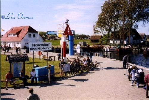 Neuendorf Harbor on the island of Hiddensee, off the coast of Northern Germany.
