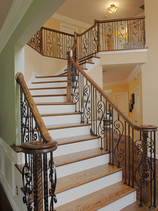 fun wrought iron staircase. Wrought Iron Spindles With White Trim Design  Pictures Remodel Decor and Ideas 30 best Stairs images on Pinterest Staircases Stairways