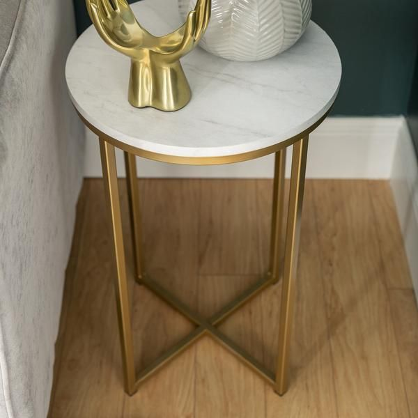 Alissa Side Tables In 2020 Living Room Accent Tables Round Side Table Marble Side Tables