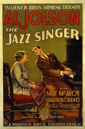 "The Jazz Singer is a 1927 American musical film. The first feature-length motion picture with synchronized dialogue sequences, its release heralded the commercial ascendance of the ""talkies"" and the decline of the silent film era."
