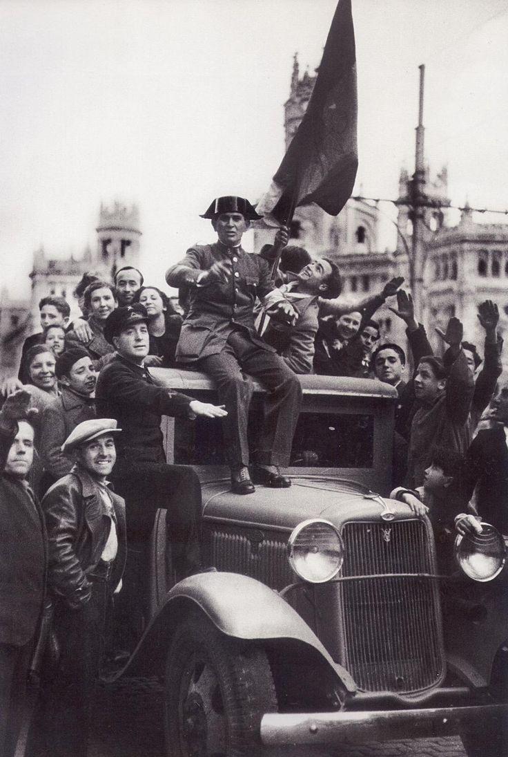 Spain - 1939. - GC - Madrid - Entrada de las tropas de Franco