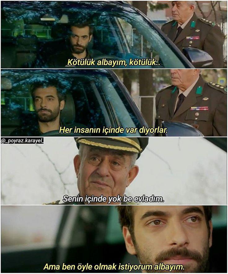 """""""• """"Kötülük albayım, kötülük.. Her insanın içinde var diyorlar."""" • 3. Poyraz olmasın ya 2. iyidi #Poyraz #Albay #İlkerKaleli #İsmailDüvenci…"""""""