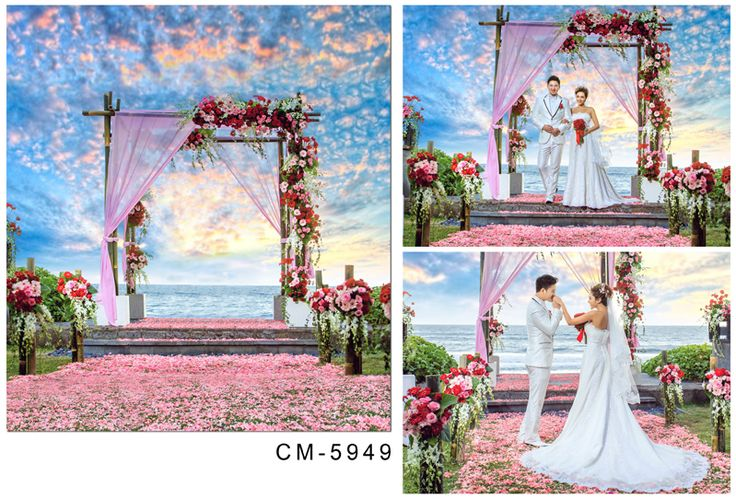 6.5x10FT Custom Wedding Backgrounds Photography Backdrops Photo Studio Sea Beach Photo Backdrops For Photographic Backgrounds