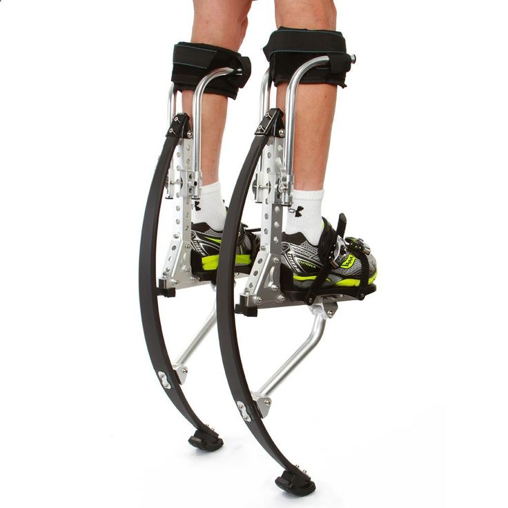 The 10 Foot High Jumping Stilts - Hammacher Schlemmer