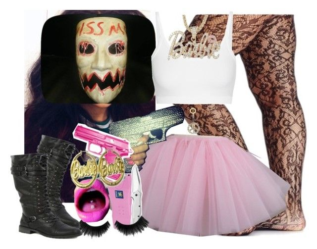 """The Purge Election Year School Girls Inspired "" by saucinonyou999 ❤ liked on Polyvore featuring Helmut Lang, Humör, Kershaw and Hello Kitty"