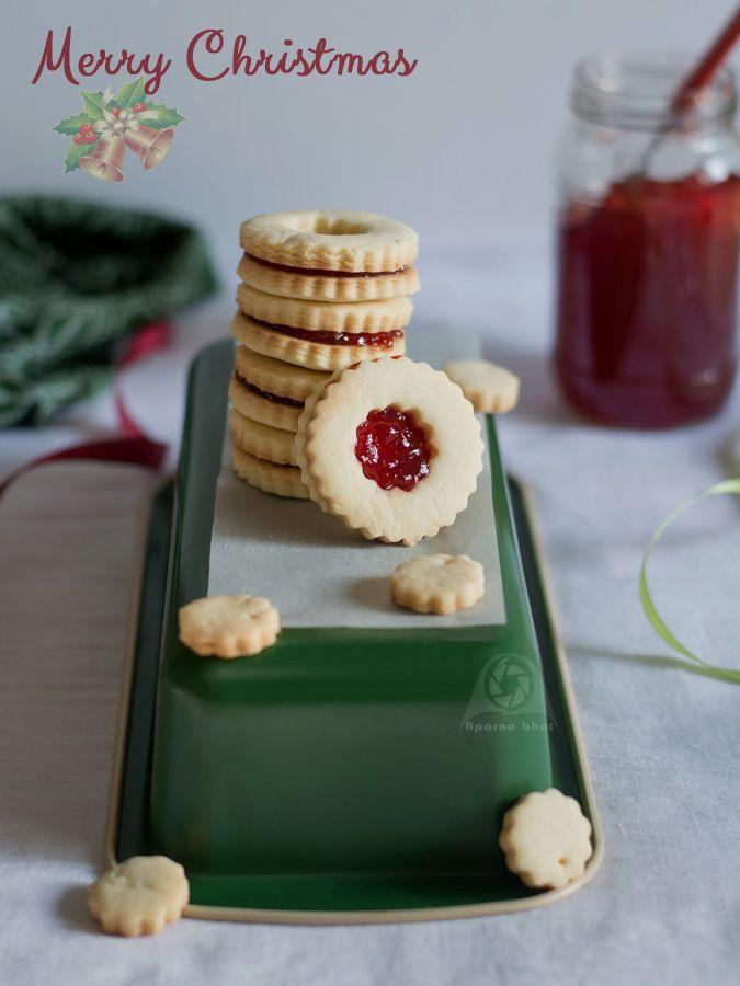 Eggless Jam Sandwich Cookies