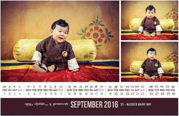 New September calendar of Bhutan royal family, Crown Prince Jigme Namgyal