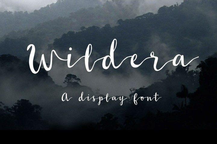 FREE Wildera Font By TheHungryJPEG
