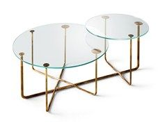 Round crystal coffee table CONNECTION | Round coffee table - Gallotti&Radice