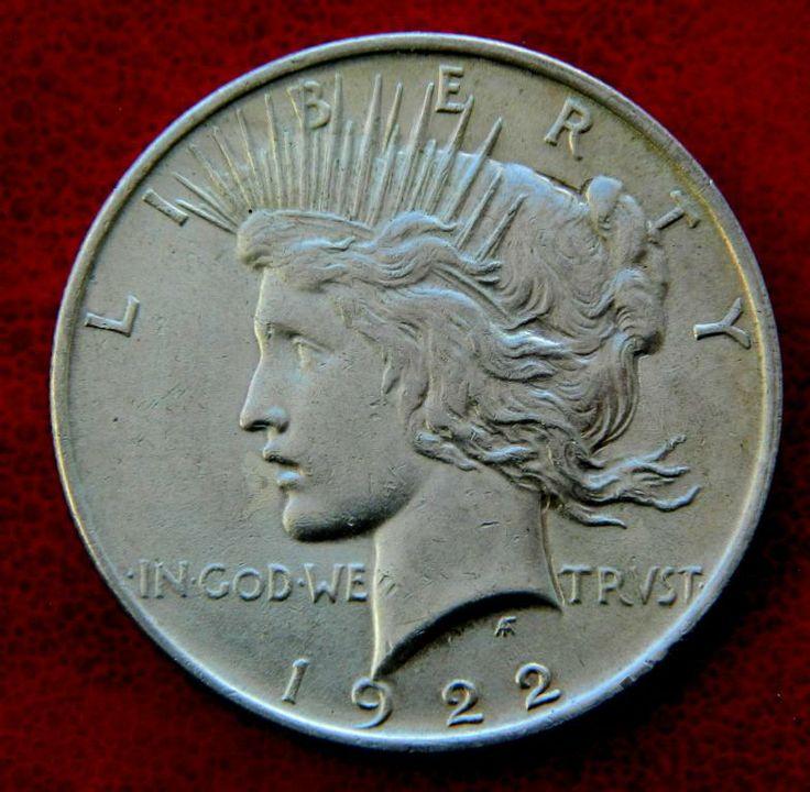 Мирный доллар 1922 AU свобода СЕРЕБРО 900 с Рубля