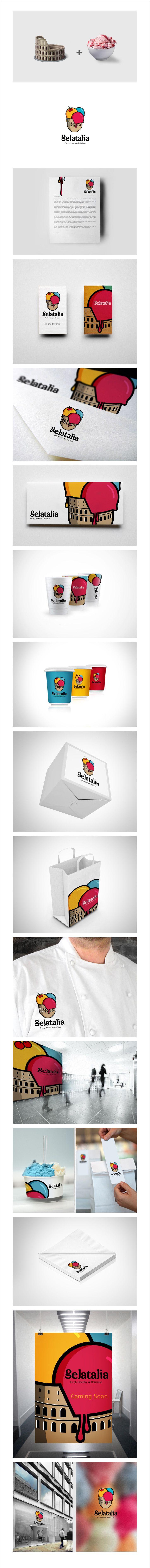 gelatalia - ice cream | #logo #stationary #corporate #design #corporatedesign #identity #branding #behance