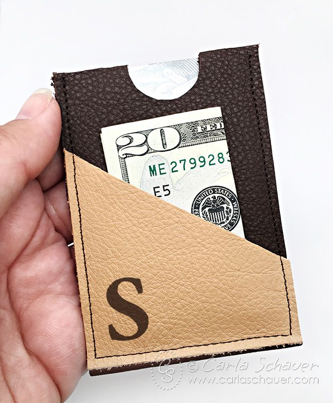 Make a slim leather wallet that is easy to carry and holds all the essentials for short adventures. A great Father's Day or graduation gift in under 15 min.