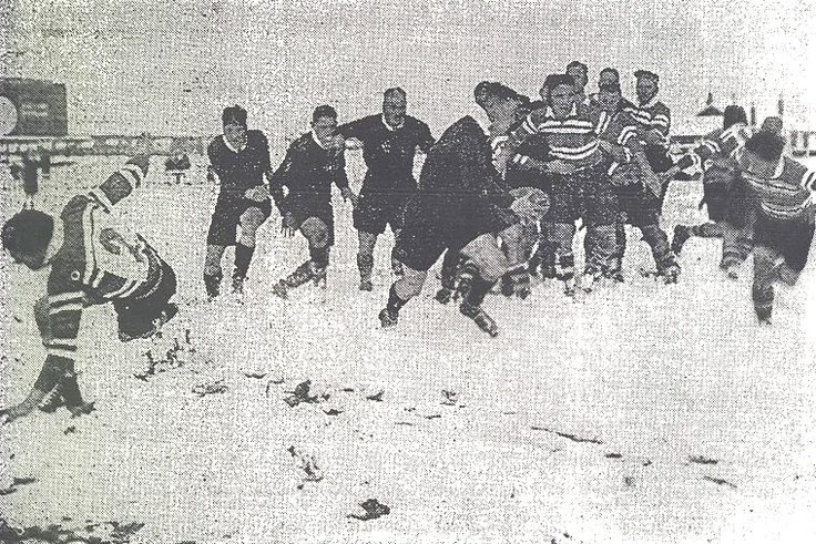 New Zealand Ranfurly Shield Rugby in the Snow. Source: The Weekly News, August 1939