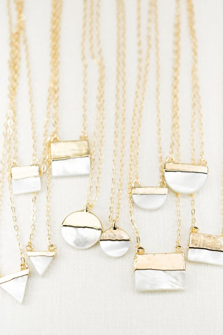 Gold-dipped mother of pearl. We'll take them all.
