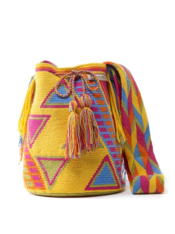 Wayuu Mochila  Over 160 hours of intricate crochet work. Made by the Wayuu women in Colombia. (Ameridian tribe)   One of a kind bag,  www.CordoBags.com