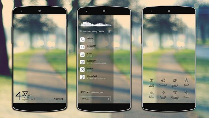 Minimal-Sidebar Android Homescreen by Ahuva - MyColorscreen
