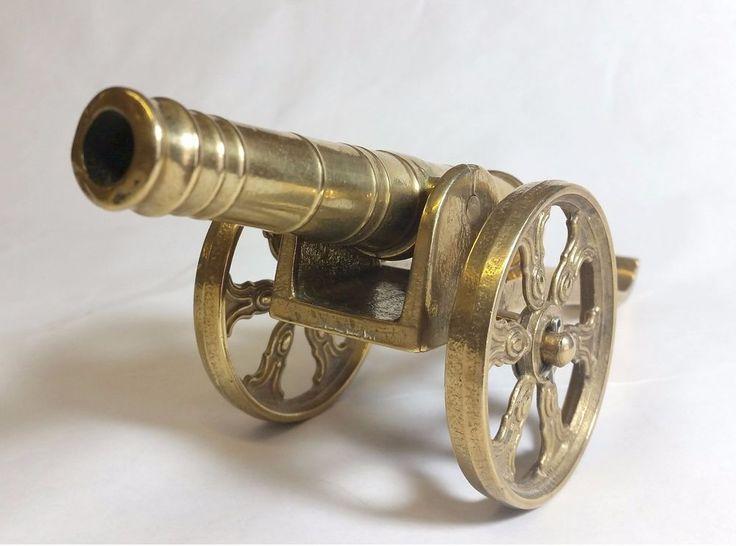 Vintage Model Brass Cannon
