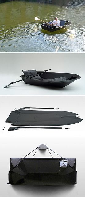 foldboat by { designvagabond }, via Flickr Maybe this would be better then a rubber dingy!?