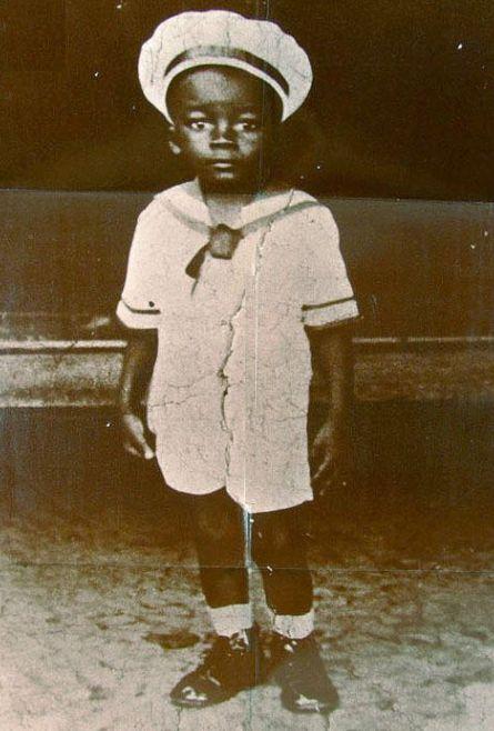 Milton Nascimento quando criança.