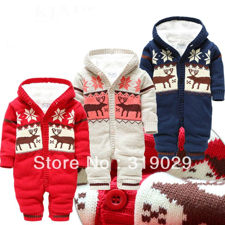 Children Rompers Jumpsuit Brand clothing Knitted One-piece suit Baby Boy wear Fur 2013 Winter Warm clothes Costume for Kids US $34.64