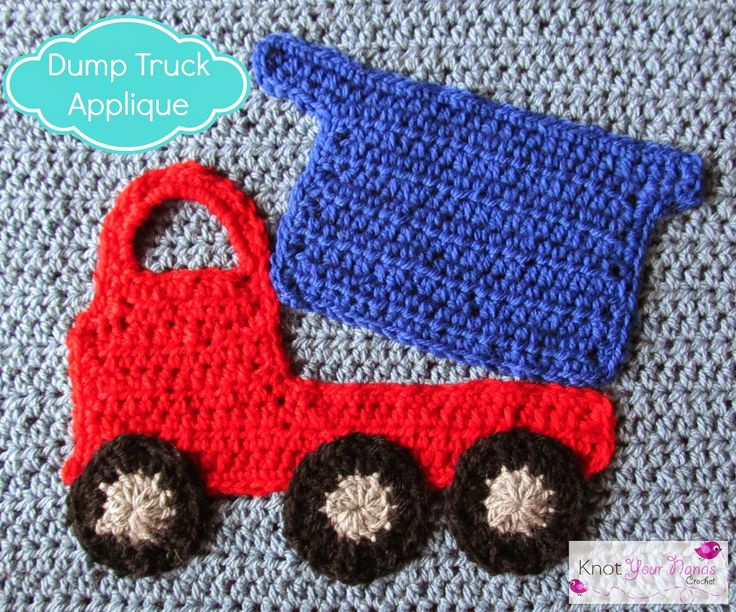 Crochet-Dump Truck-Applique