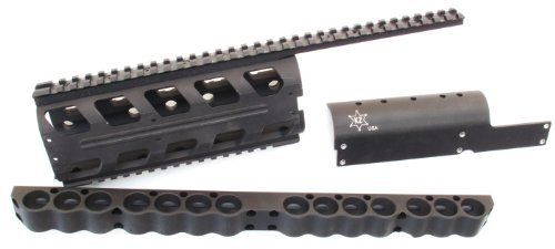 KZ Benelli M4 Tri-Rail / 14rd Shotshell Carrier System by KZ. $199.95. KZ Benelli M4 Tri-Rail / 14rd Shotshell Carrier System KZ Benelli M4 quad rail system is a high-quality Picatinny forend for the Benelli M4 that replaces the weapon's stock forend and top rail allowing the user to mount a variety of accessories. Machined from military specification hard-anodized aluminum, KZ's M4 Benelli Picatinny Forend is strong, dissipate heat, and provide rock-solid weapon ...
