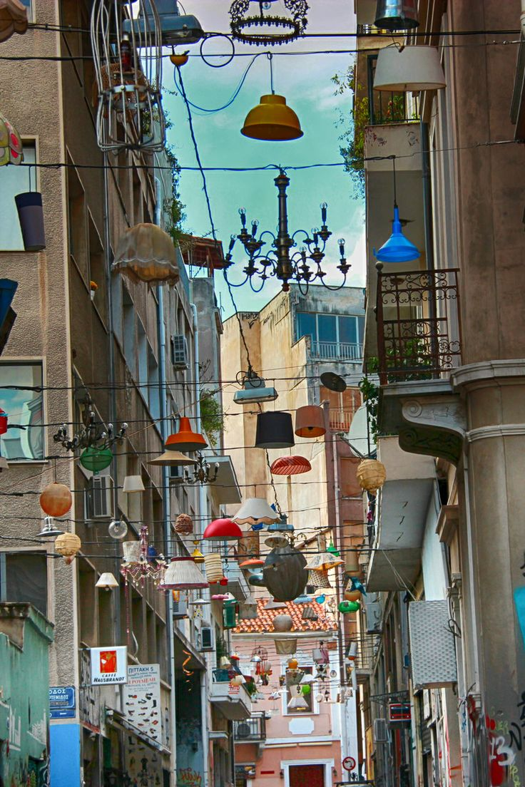 The Neighbours got out + decorated - Artemidos street, Athens