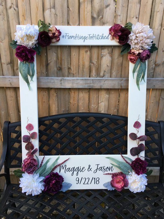 Giant Photo Frame Photo Booth Prop Fall Wedding Frame