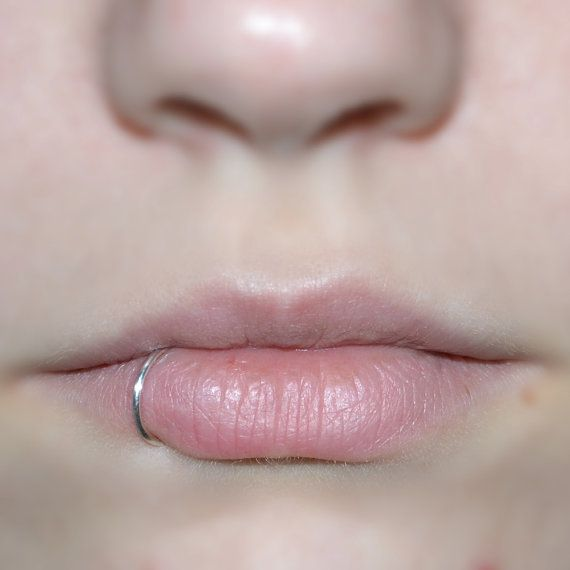 Silver Plated Fake Lip Ring / Lip Cuff Faux Lip by mmarycreations
