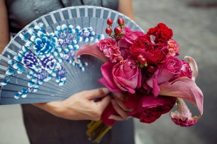Bouquet fans for maids