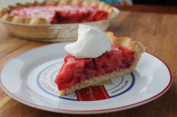 Strawberry gelatin grain-free pie (I would try it without egg in the crust.)