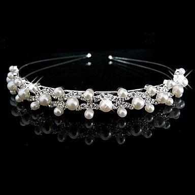 Women's/Flower Girl's Rhinestone/Imitation Pearl Headpiece - Wedding Headbands 2015 – $4.79