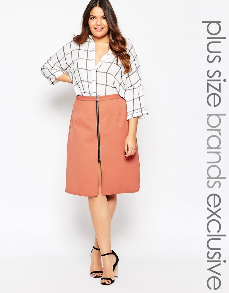 Alice & You Zip Detail A Line Skirt