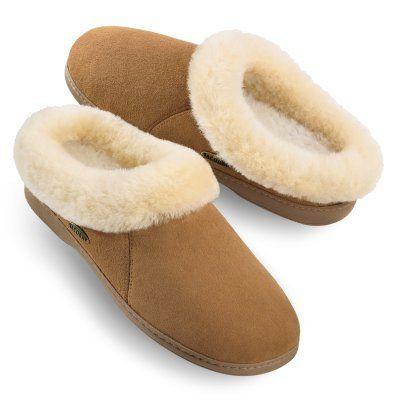 Acorn Womens Ewe Collar Sheepskin Slippers - A10879BEZW10