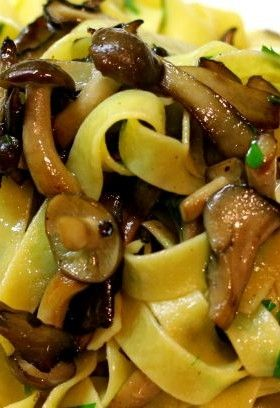 Tagliatelle of Mushroom I want this right now! Yummy..