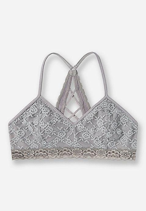 15a37fe67b6 Lace Braided Back Bralette