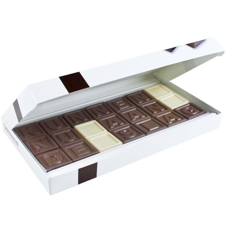 Eine persönliche schokoladige Botschaft kannst Du mit unserem Chocotelegramm verschicken!