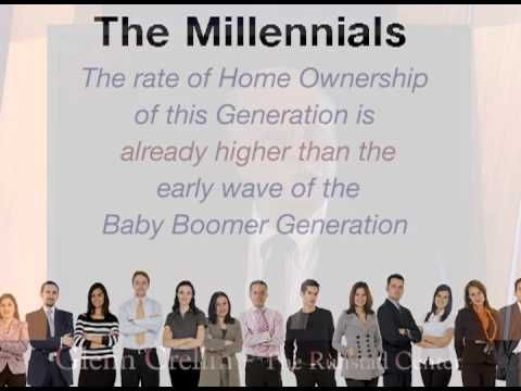 Rent vs Buy trends - A recent study by the Runstad Center for real estate studies at the University of Washington indicate the dream of home ownership is alive and well with the Millennial Generation. Although this generation (ages 11-29 in 2013) may delay the purchase of a home due to the economy and school loans, the desire to own a home is as high as previous generations.