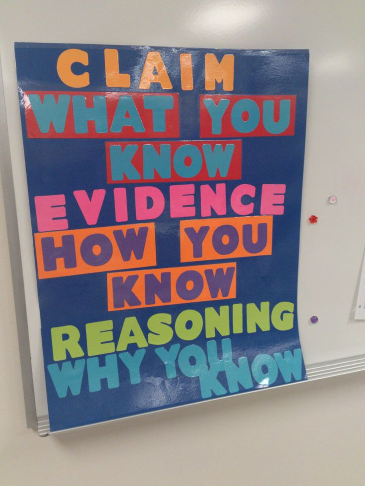 claim evidence reasoning bulletin board - Google Search