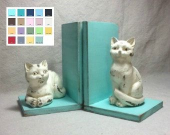 Cat Bookends Available in a Variety of Colors