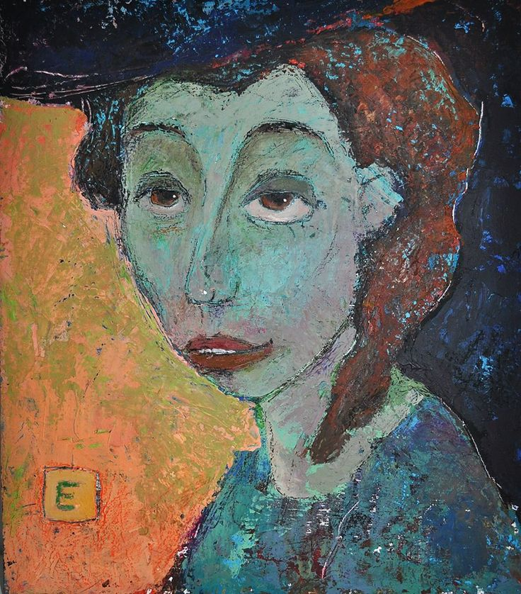 "Приобретайте картину на сайте www.d-mansion.ru ""Мадемуазель"" 35х30см Жанр: портрет, наив  Материалы: холст на картоне, акрил 2010 г."