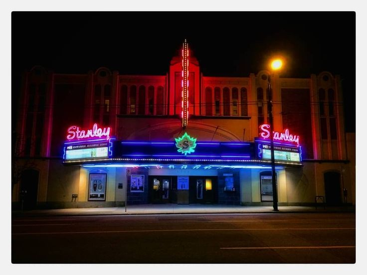 A standout sight on South Granville. Ive still yet to take in a play here but the neon certainly encourages me to.