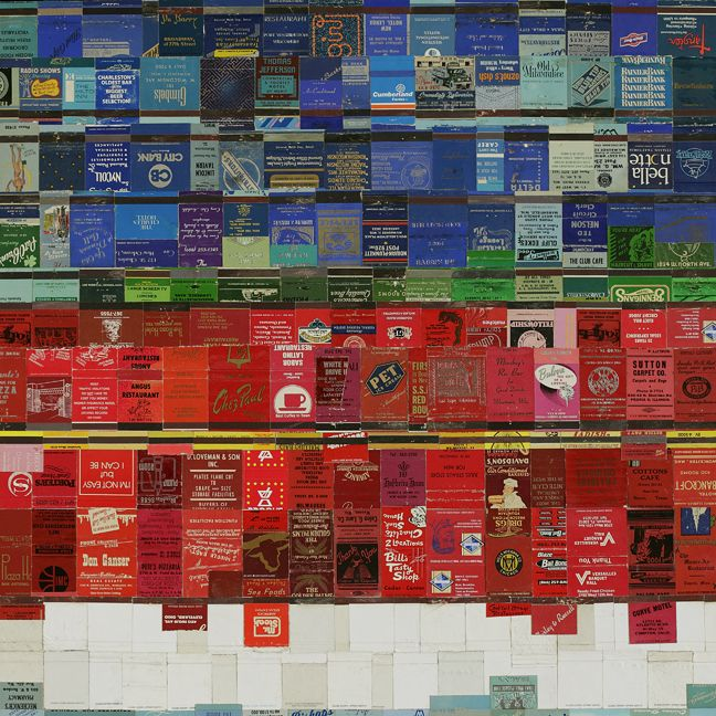 In the city by David Poppie; made of matchboxes