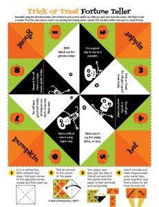 Trick or Treat Fortune Teller FREE Download | Tween Crafts - Connecting Mom and Daughter through crafting