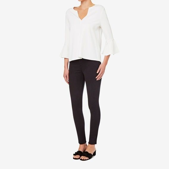 Ponte frill sleeve top $89.95  Seed Heritage