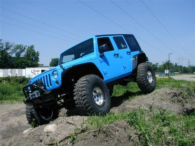 blue 4 door jeep - beautiful color!!!!