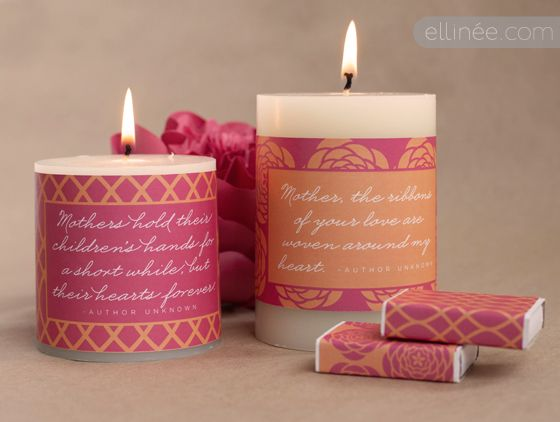 Printable Candle Wraps for Mother's Day  [create] | ballarddesigns.com