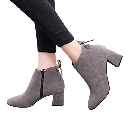 ba408afb3147f Ankle Boots Womens,Hemlock Ladies High Heels Flat Boots S ...
